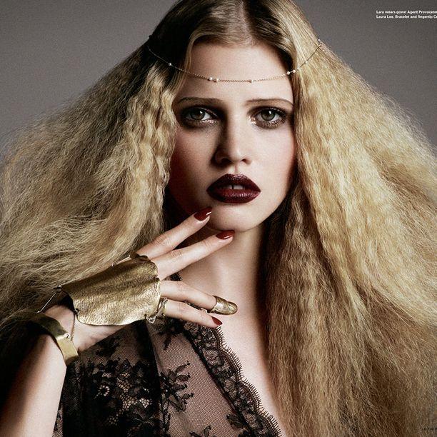 Lara Stone for i-D Magazine, photographed by Daniele and Iango