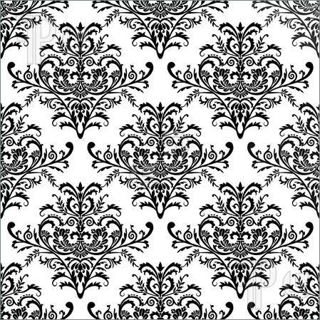 Seamless Baroque Wallpaper, Vector