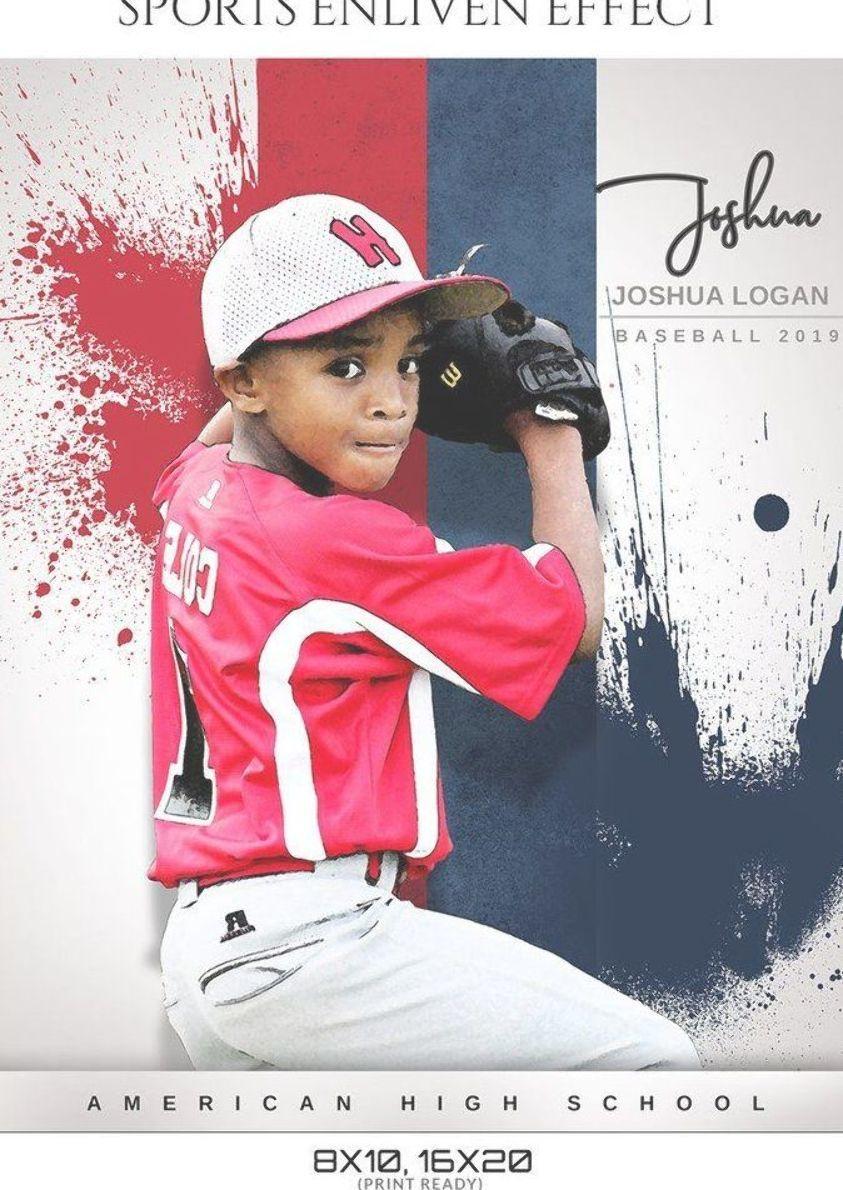 Joshua Logan Baseball Sports Template Enliven Effects Sports Baseball Sports Templates Sport Photography