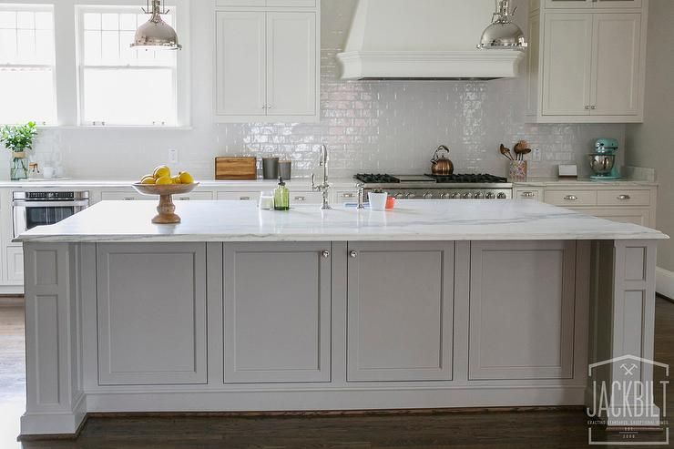 Image result for white kitchen grey island | The Montclair | Pinterest