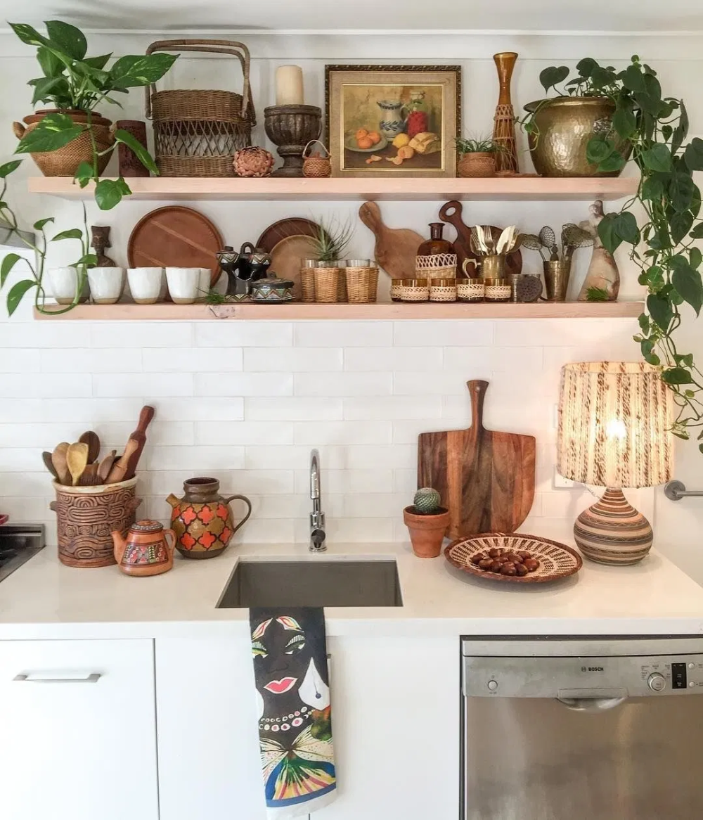 home decor 13 design ideas for bohemian style kitchens gingerly witty in 2020 rustic on boho chic home decor kitchen id=56157