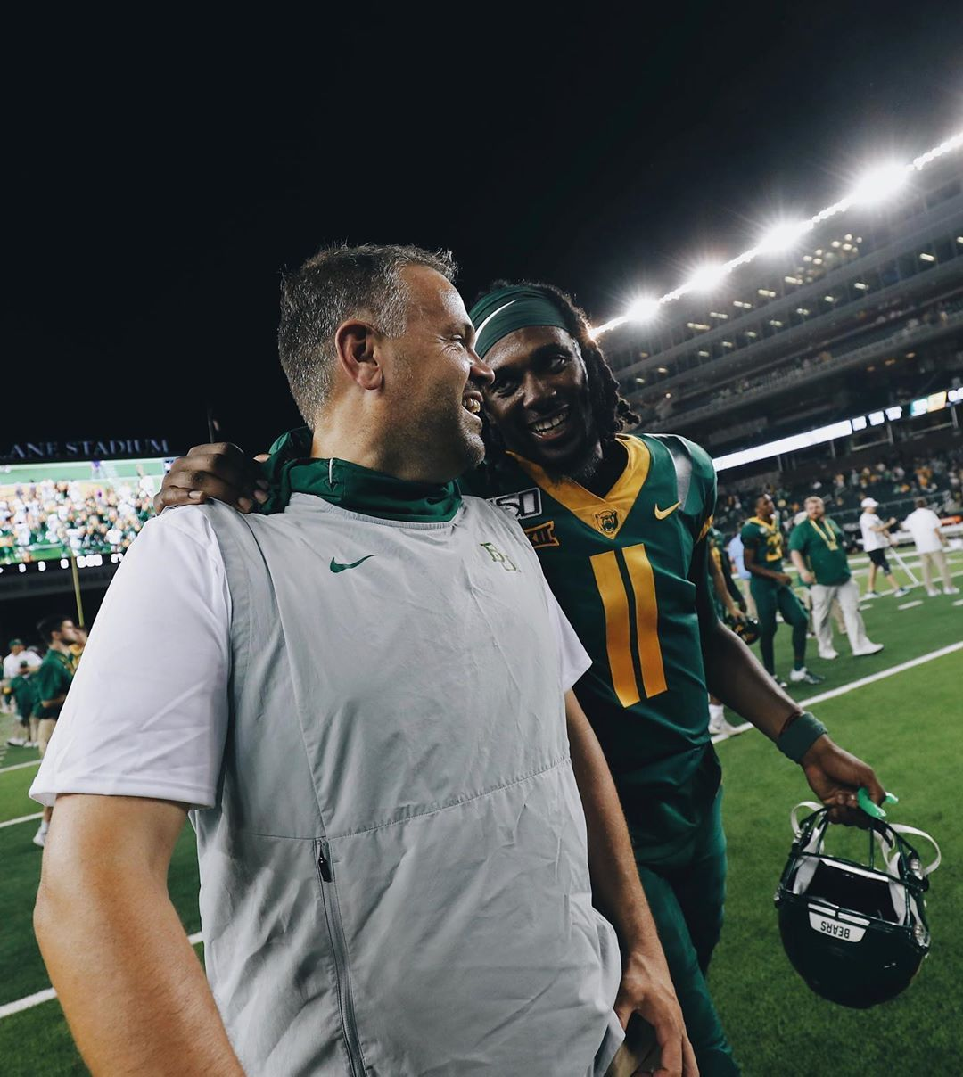 Matt Rhule, Baylor University head football coach, moves