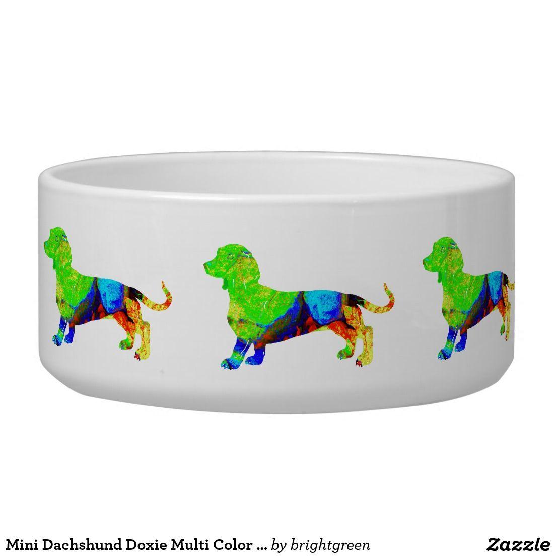 Mini Dachshund Doxie Multi Color Green Blue Dog Pet Food