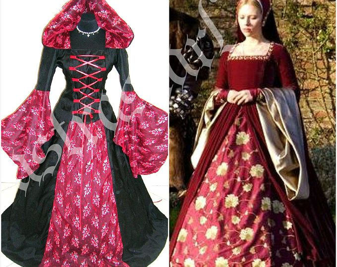 HALLOWEEN dress costume S-M medieval dress theme wedding gothic witch v&ire Tudor renaissance handfasting wicca celtic victorian  sc 1 st  Pinterest & HALLOWEEN dress costume S-M 10-12-14 medieval dress theme wedding ...