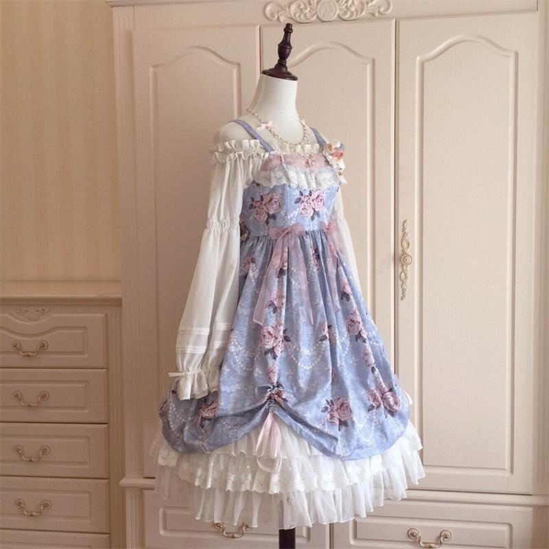 Le Miroir -The Fragrant Flower Wall- Classic Lolita Jumper Dress