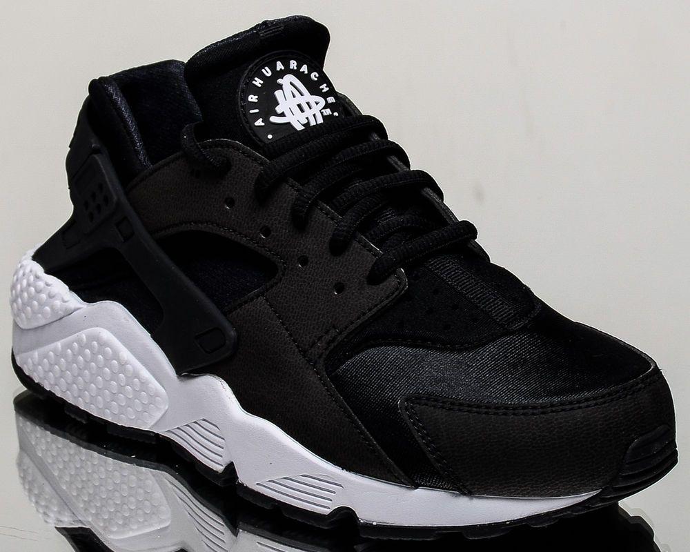 Nike WMNS Air Huarache Run [634835-006] Women Casual Shoes Black/Black-White