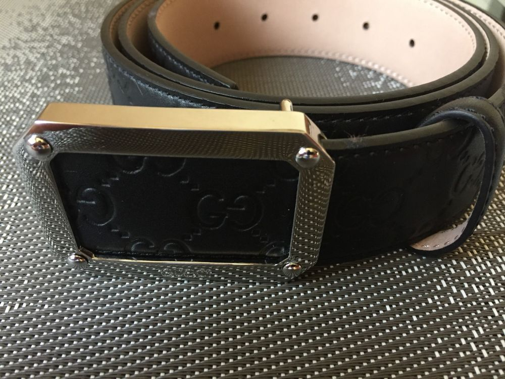 e1c75ba748a NEW GUCCI MENS SIGNATURE LEATHER BELT 110CM BLACK  fashion  clothing  shoes   accessories  mensaccessories  belts (ebay link)