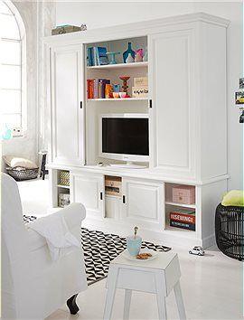 TV Schrank Verstaut den Fernseher optimal und bietet jede Menge Stauraum fr Bcher DVDs und