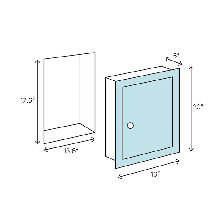 16 X 20 Recessed Frameless Medicine Cabinet With 2 Adjustable Shelves Recessed Medicine Cabinet Adjustable Shelving Glass Shelves In Bathroom