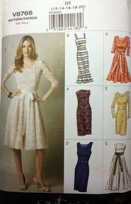 The Sewing Lab: V8766 - Retro-Feel Dress