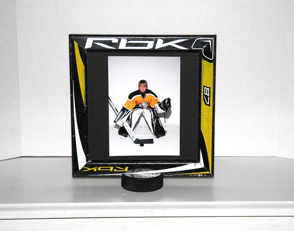 Hockey Stick Picture Frame, Recycled Wood Hockey Stick Picture Frame ...
