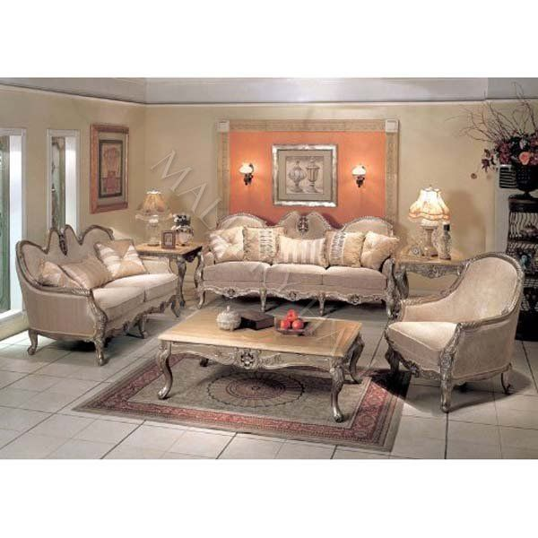 2 Pc French Provincial Comfortable Formal Seating Group