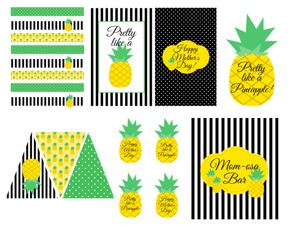 graphic regarding Free Printable Pineapple titled Totally free Pineapple Themed Printables! Pineapple inside 2019