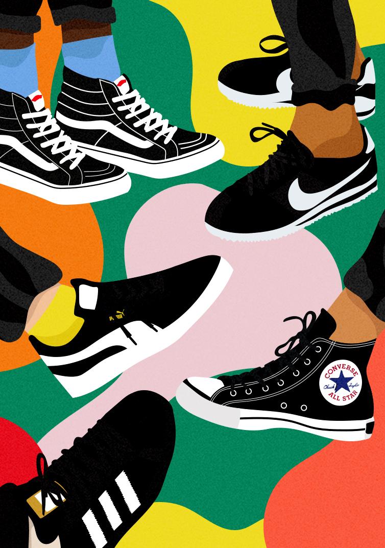 The Ones Zappos 19 So Laci Like Painting Logo Illustration Art Sneaker Art
