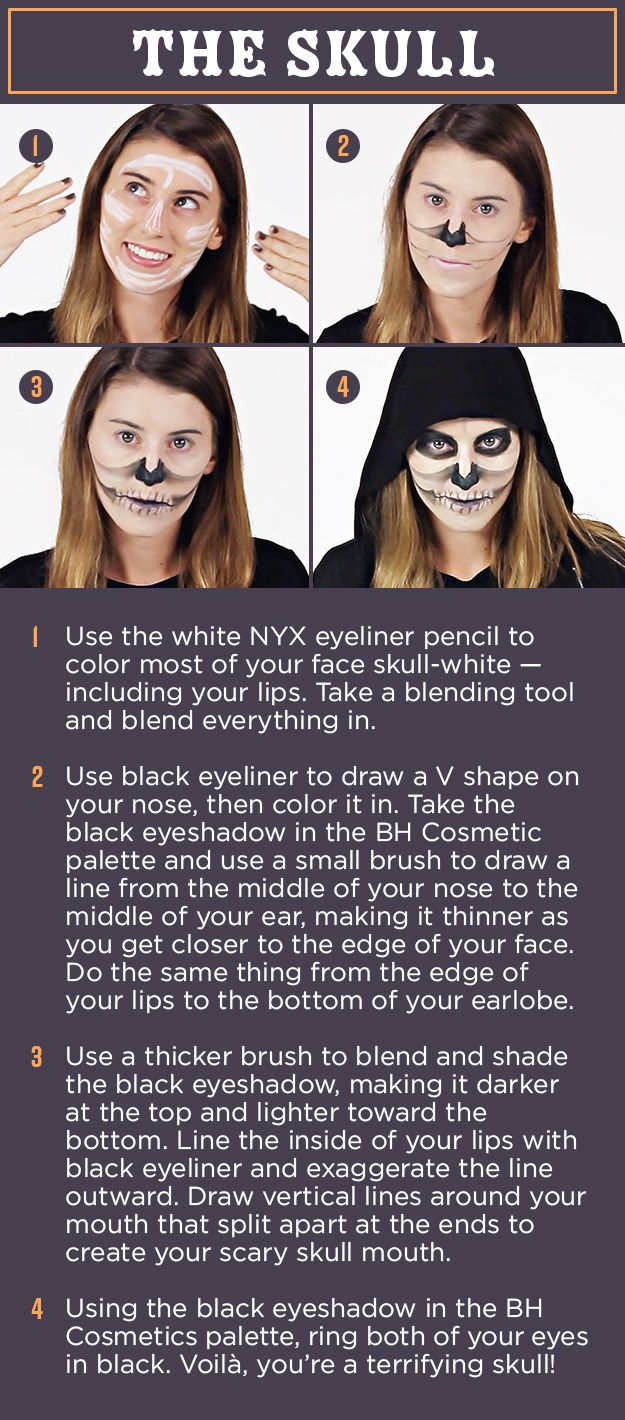 4 Easy Halloween Makeup Looks Every Lazy Girl Will Want To Try ...