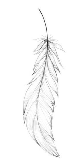 Simple White Feather Temporary Tattoo