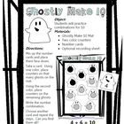 Adorable friendly ghosts adorn this workstation activity for practicing combinations for ten.If you like this free product, I hope you'll rate it...