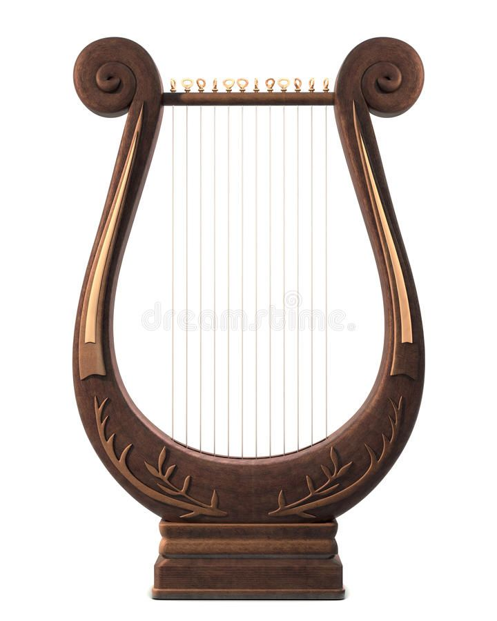 Lyre stock image. Image of retro, revival, music, instrument - 9420997
