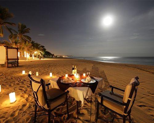 Cena rom ntica en la playa mesas romanticas pinterest - Ideas cenas romanticas ...