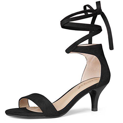 1b84b453bd7 Allegra K Women s Lace up Black Sandals - 10 M US Allegra K ...