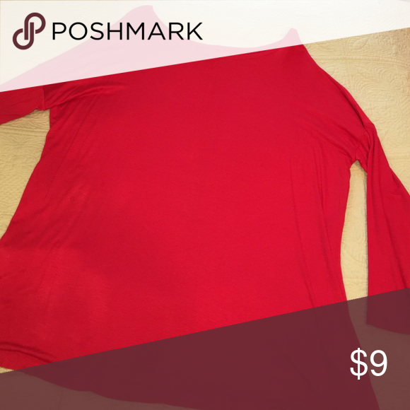 Red tunic (similar to PIKO) This red top is really pretty especially for the holidays. It fits like a PIKO top and the size says S/M Tops Tunics