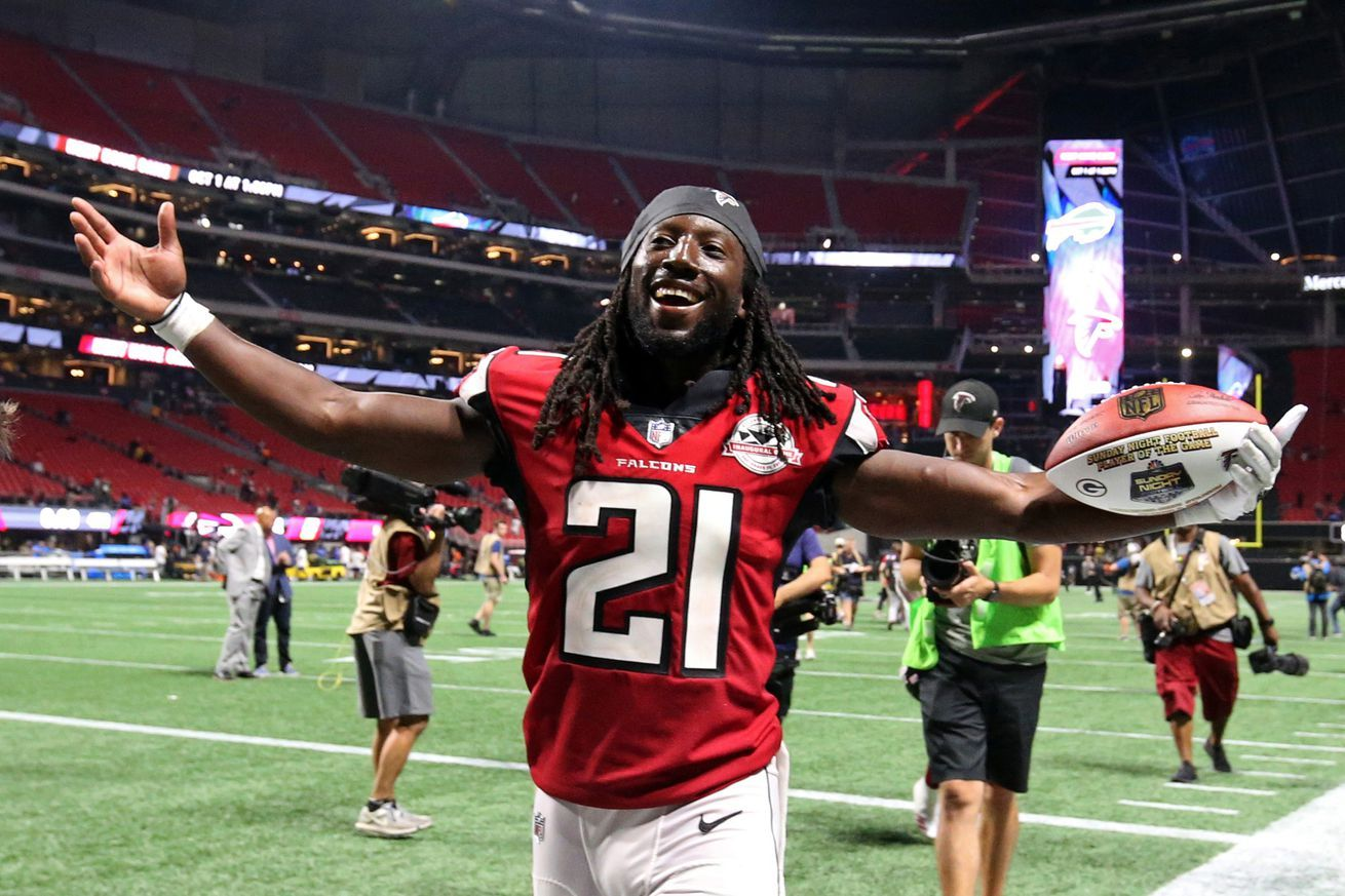 Falcons Rule Desmond Trufant Out Of Sunday S Game Against Vikings Nfl Week New Orleans Saints Football Helmets