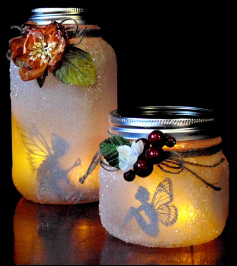 This Diy Craft Project Is So Easy That Anyone Can Do It It Is Also A Great Gift Idea For Friends And Family This Mas Jar Crafts Fairy Jars Mason Jar