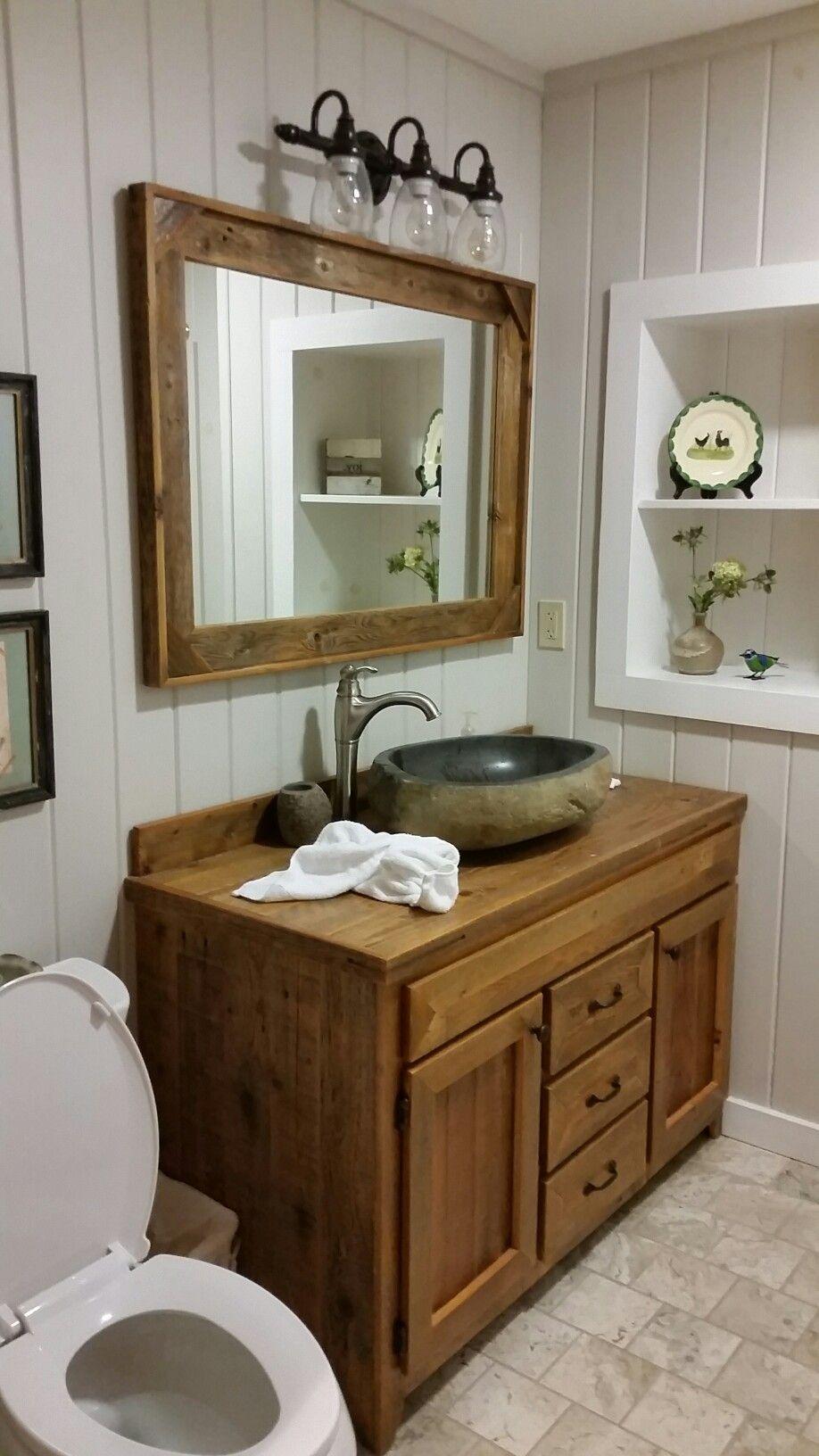 pin by amy greene on bathroom remodel diy cabin rustic on bathroom renovation ideas diy id=74699