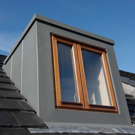 Grp flat roof dormer to replicate a lead effect for Versare piani casa dormer
