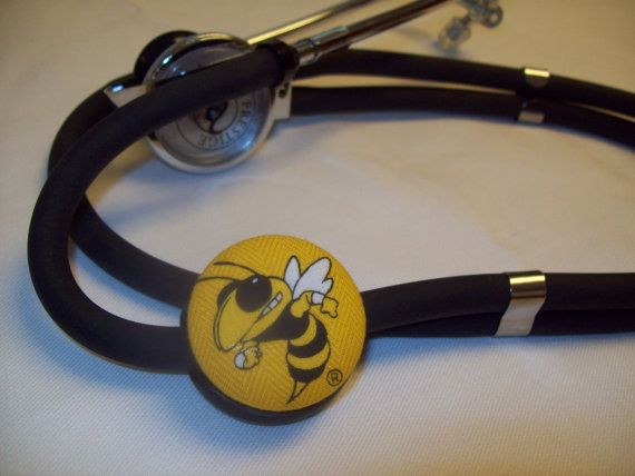 ID STETHOSCOPE BUTTON monogrammed by Whimsicalmonica on Etsy, $8.99