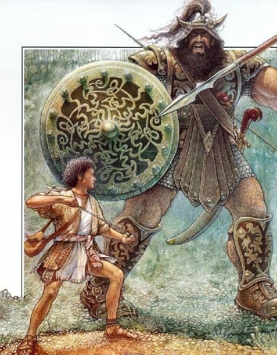 David Goliath Art Painting