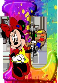 CH.B *✿*Mayuscula de Minnie Mouse