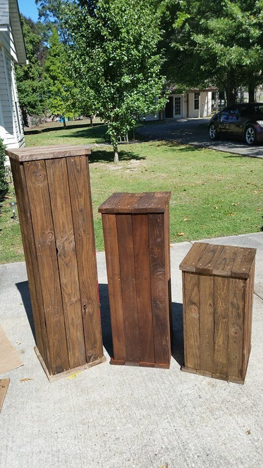 Recycled Wood Pallets These Are Solid Wood Pedestals Used