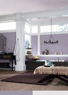 Gonna Be My Paint Color Love The Violet And White Sherwin Williams Ash Sw 6549