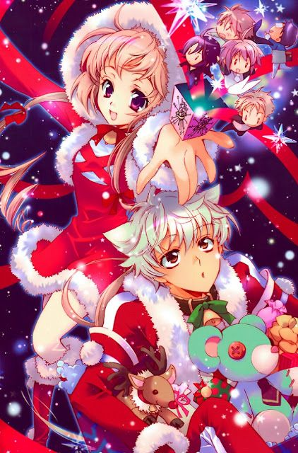 Merry Chirstmas To All You Chibis I Hope That Like This Xmas Anime Wallpaper A Lot