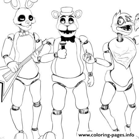 print five nights at freddys fnaf 2 singer music coloring