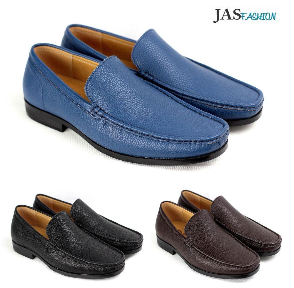Mens Boat Slip On Casual Deck Shoes Smart Leather Office Designer Dress Formal
