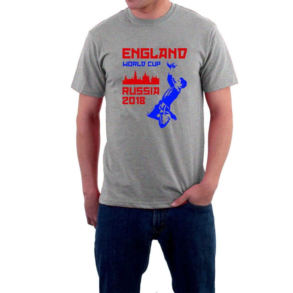 ff3fa7ace England Russia Football Retro Supporters T-shirt World Cup Soccer Moscow  2018