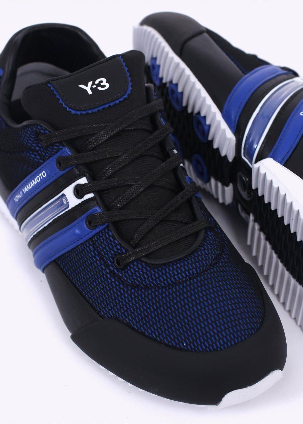 f7ecc96aec93dc Y3   Adidas - Yohji Yamamoto Sprint Trainers - Blue   Black
