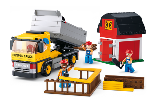 Sluban fra SBDanmark er et godt alternativ til de dyre klodser og er fuld ud kompatibel med mærker som f.eks Lego. Dumper lastbil http://www.sbdanmark.dk/index.php/town/sluban-dump-truck-m38-b0552