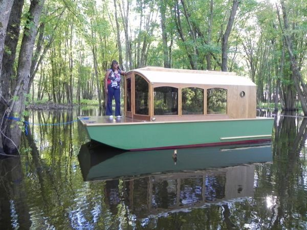 Man Designs Micro Houseboat You Can Build for Cheap | Boathouse ...