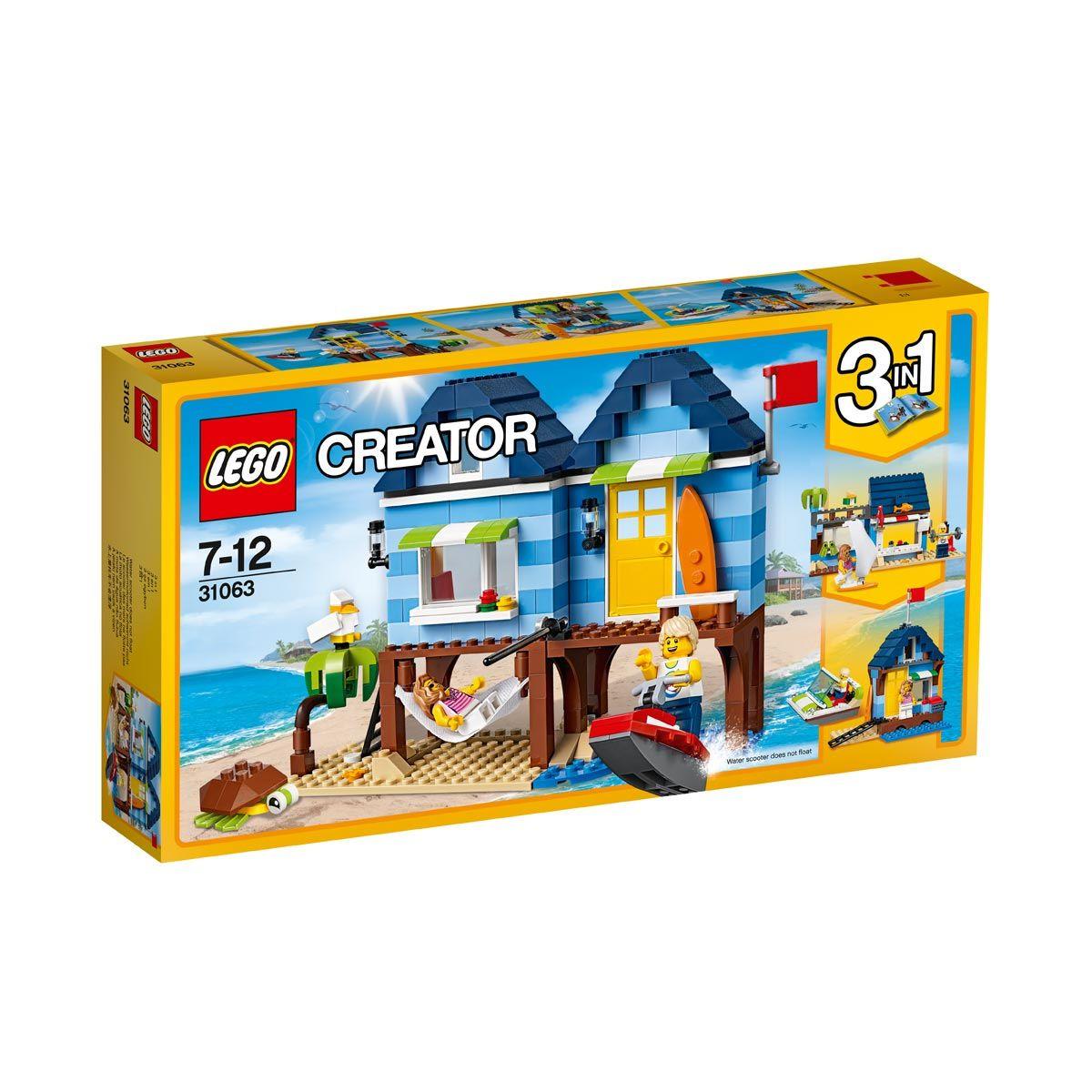 dc60a70f9782e 31063 Les vacances à la plage Lego pour enfant de 4 ans à 8 ans - Oxybul  éveil et jeux