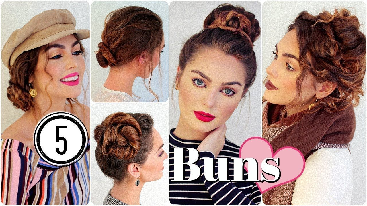no heat easy hairstyles cute messy buns youtube hairstyles