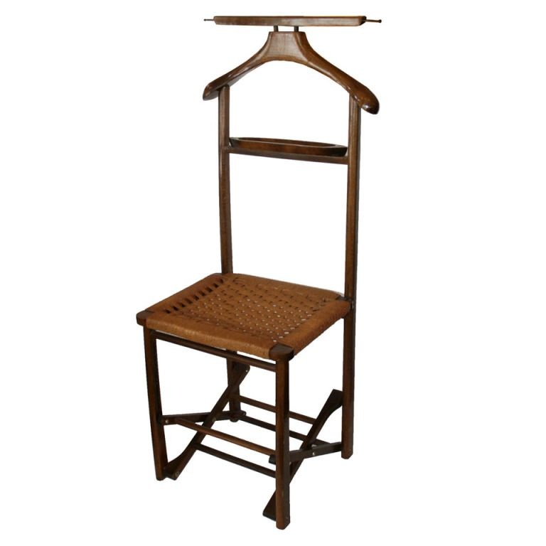 1960 S Folding Italian Valet Chair 1stdibs Com Chair Valet Chair Vintage Coat Rack