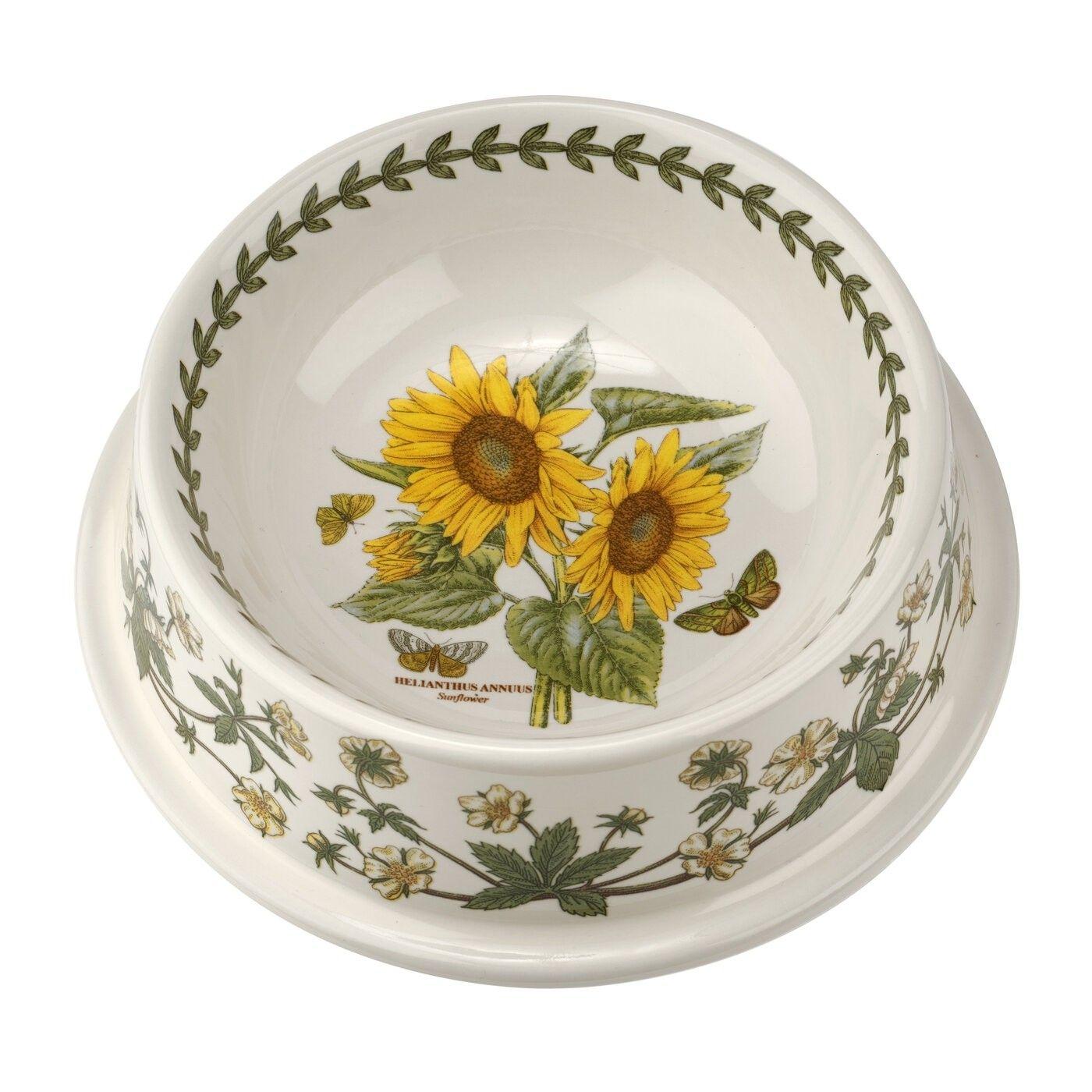 Portmeirion Botanic Garden 7 Inch Pet Bowl Sunflower