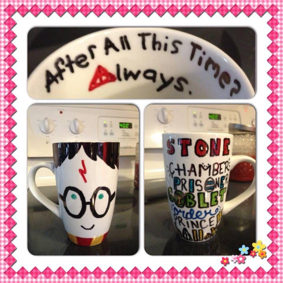 My fabulous DIY Harry Potter sharpie mug! <3