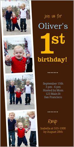 year of memories boy birthday invitation  shutterfly stationery, 4x8 invitation card