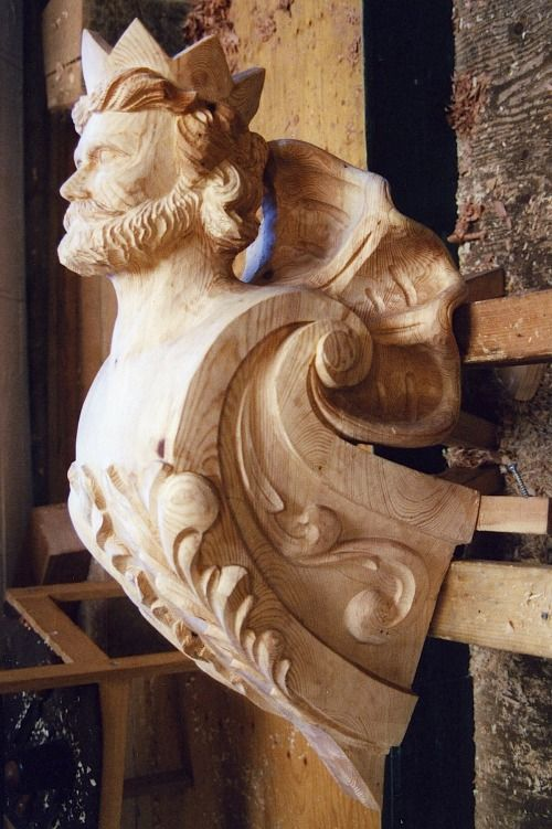 Woodcarvers are still making figureheads for collectors...