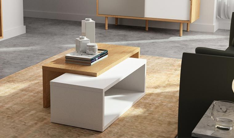 Table Basse Modulable En Bois Blanc Table Basse Design Table Basse Modulable Table Basse