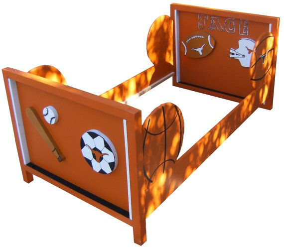 Toddler Bed Frame Sports Theme Baseball Football Basketball Design Your Own By Sonoran Sandman